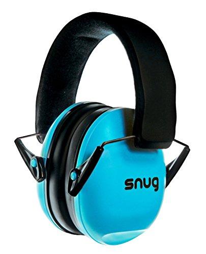 Snug Kids Earmuffs / Best Hearing Protectors - Adjustable Headband Ear Defenders For Children and Adults (Aqua Blue)