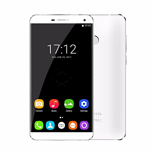 Oukitel U11 Plus Mobile Phone 5.7 inch 19201080 FHD IPS 5 points, 2.5D curved screen RAM+ROM 4GB+ 64GB MTK6750T Octa Core Android 7.0 16.0MP Camera 4G Smartphone Power by 3700mAh battery(White)