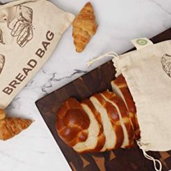 Reusable Linen Bread Bags