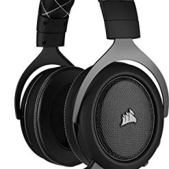 Corsair HS60 PRO Surround Gaming Headset (7.1 Surround Sound, Adjustable Memory Foam Ear Cups, Noise-Cancelling Detachable Microphone with PC, PS4, Xbox One, Switch and Mobile Compatibility) – Black