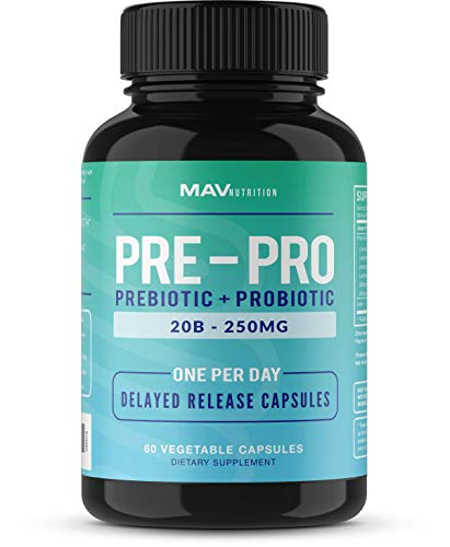 Pre+Probiotic Formula Designed to Support Digestion and Build Good Bacteria in The Gut While Maintaining Support for The Overall Health of Body - 7 Powerful Strains; Vegetarian Friendly; Non-GMO