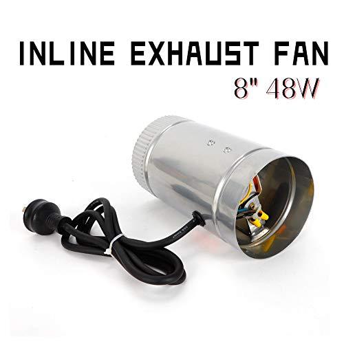 Exhaust Fan TBVECHI Galvanized Steel Sheet Housing & Aluminum Blades Inline Exhaust Fan 8' 48W