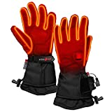 ActionHeat 5V Premium Heated Glove - Men, Battery Heated Gloves w/ 3-Heat Settings, Extended Gauntlet, Touch-Control, Rechargeable Electric Gloves