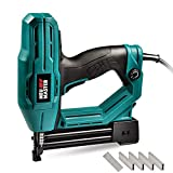 Electric Brad Nailer, NEU MASTER NTC0040 Electric Nail Gun/Staple Gun for Small Project of Upholstery, Home Improvement and Woodworking, 1/4'' Narrow Crown staple 400pcs and nail 100pcs Included