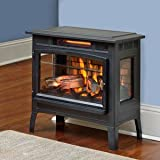 Duraflame Electric Infrared Quartz Fireplace Stove with 3D Flame Effect, Black