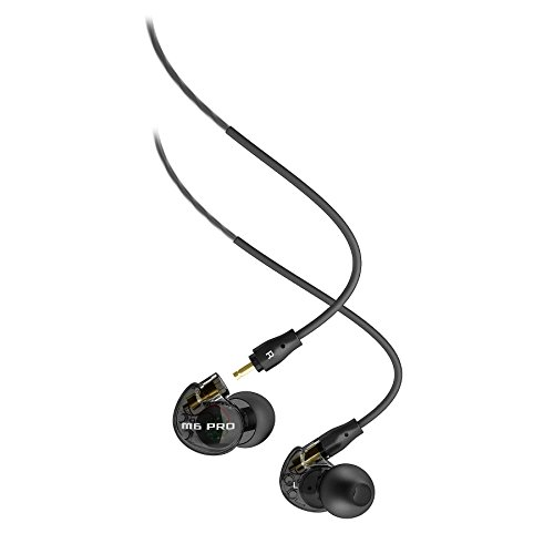 MEE audio M6 PRO Universal-Fit Noise-Isolating Musician's in-Ear Monitors with Detachable Cables (Smoke) (1st Generation)