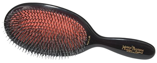 41W 96mhWLL This bristle and nylon hair brush is ideal for long and short, thick hair Made of the highest quality materials, the Popular Mason Pearson hair brush creates luxurious, soft hair that is easier to manage The Popular brush will not cause split ends or irritation to the scalp and will spread sebum evenly over the hair strands for beautiful, healthy hair