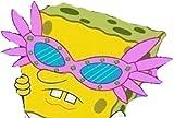 LA STICKERS Spongebob with Sunglasses Sticker - Sticker Graphic - Auto, Wall, Laptop, Cell, Truck Sticker for Windows, Cars, Trucks