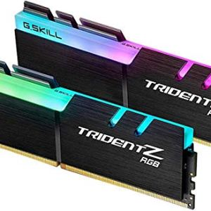 G.Skill Trident Z RGB Series 32GB (2 x 16GB) 288-Pin SDRAM (PC4 25600) DDR4 3200 CL14-14-14-34 1.35V Dual Channel…