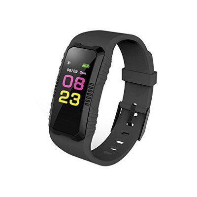 samLIKE H2 Stilvolle Smart Watch cardiofrequenzimetro Bluetooth impermeabile con colorate UI 【 la coolste Smart Watch questo anno ❀ 】, ⭐️ Schwarz