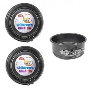 2 x Childrens Mini 12.5cm 5 Inch Non Stick Springform Round Cake Tin Baking Tin 41W5cs0CbBL