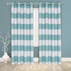 Bonzer Stripe Seafoam Curtains