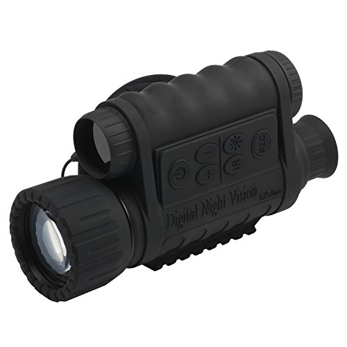 Bestguarder 6x50mm HD Digital Night Vision Monocular with 1.5 inch TFT LCD and Camera & Camcorder Function Takes 5mp Photo & 720p Video from 350m Distance for Night Watching or Observation