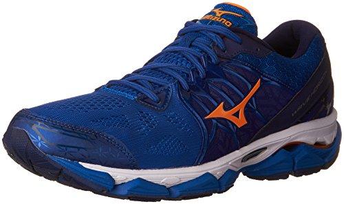 Mizuno Men's Wave Horizon Running Shoe, Royal/Orange, 15 D US