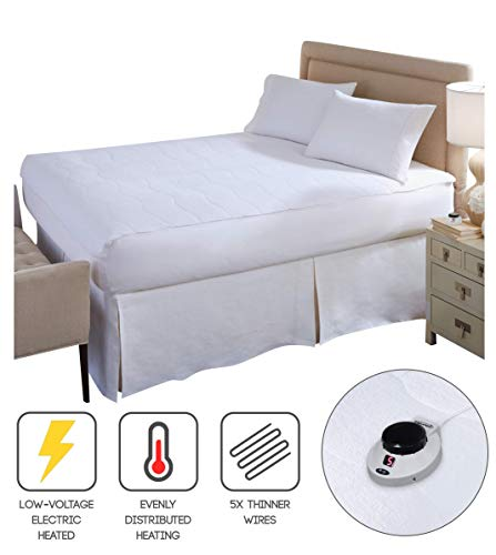 Perfect Fit SoftHeat Smart Heated Electric Mattress Pad with Safe & Warm Low Voltage Technology, Micro-Plush Top (King)
