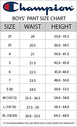 Champion Boys Sweatpant Heritage Collection Slim Fit Brushed Fleece Big and Little Boys Kids 7
