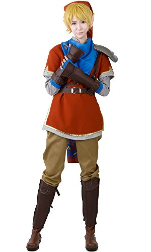 Miccostumes Men's High Quality Zelda Hyrule Warriors Link Red Cosplay Costume (Men Xl)