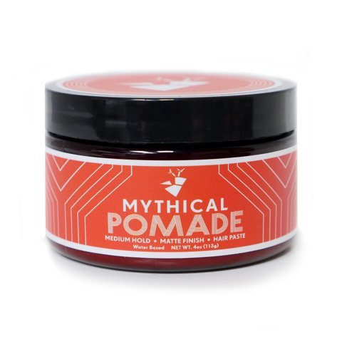 Mythical Pomade for Men and Women - Medium Hold - Matte Finish - Water Based - Unisex - Hair Paste for Straight, Thick and Curly Hair - 4 oz - By YouTube celebrities Rhett and Link with Beard and Lady