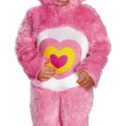 Baby Girl's Care Bears Wonderheart Bear Deluxe Costume, Pink, 3T-4T