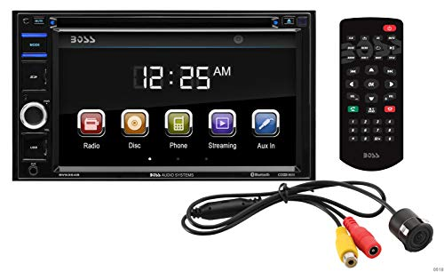 BOSS Audio BVB9364RC Double Din, Touchscreen, Bluetooth, DVD/CD/MP3/USB/SD AM/FM Car Stereo, 6.2 Inch Digital LCD Monitor, Wireless Remote, Rear Flush Mount Camera Included