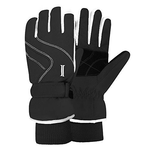 Igloos Women's Taslon Ski Gloves with Stripes, Anthracite, Small/Medium