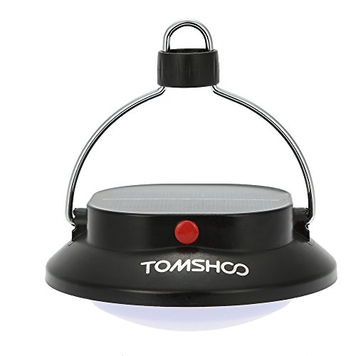 TOMSHOO Camping Lantern 12 LED Rechargeable Solar Power USB Charging Camp Lamp for Outdoor Camping and Indoor Lighting (1 Pack)