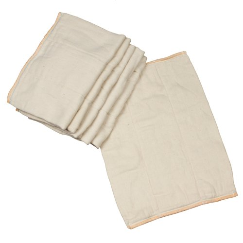 OsoCozy Unbleached Prefold Cloth Diapers - 12 Count, Newborn - 4x6x4 (6-11 lbs)