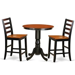 3 Pc counter height set-pub Table and 2 Kitchen bar stool