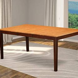 East West Furniture HET-ESP-T Henley Table-Oak Table Top and Mahogany Finish Attractive 4 Legs Solid wood Structure modern Dining Table