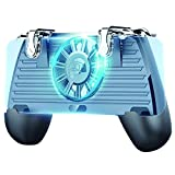 OMKUY Mobile PUBG Game Controller Trigger Gamepad L1R1 Joystick Handle Grip Cell Phone for 4.5~7' Android iOS Smartphone