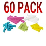 Ikea 700.832.52 Bevara Sealing clip, assorted colors, assorted sizes, 2 SETS OF 30 - 60 TOTAL