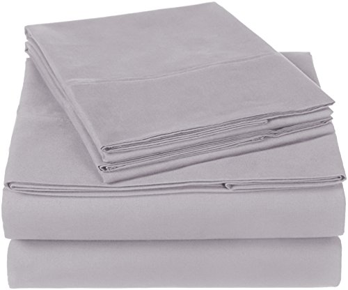 Pinzon 300 Thread Count Organic Cotton Sheet Set - Queen, Dove Grey