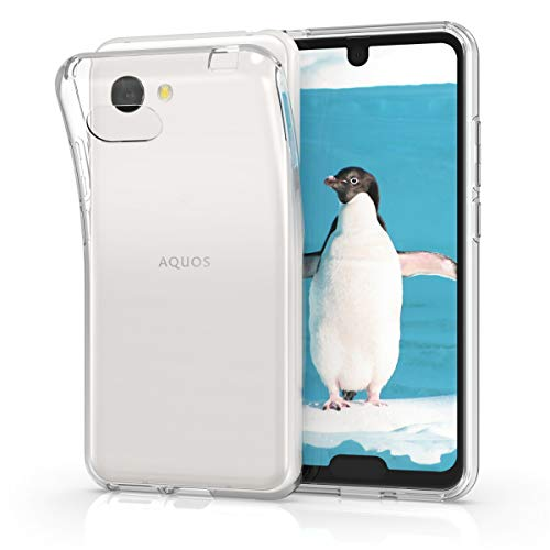 kwmobile Crystal Case for Sharp AQUOS R2 Compact - Soft Flexible TPU Silicone Protective Cover - Transparent