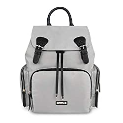 【Advantages as a diaper bag】  Hafmall stylish diaper backpack for mom and dad, waterproof, durable, lightweight and easy to clean, it has all the features of the Mummy bag, more fashionable than the regular diaper bag.  【Multi-Compartment &amp...