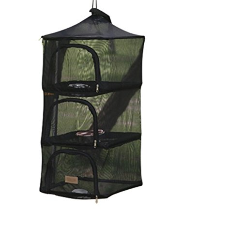Wealers 3 Layer Foldable Camping Kitchen Hanging Dry Net for Food Dishes or Clothing Great for Home Picnic Camping or Any Outdoor Occasion, Keep Out Flies Bugs Mosquitos from Your Food