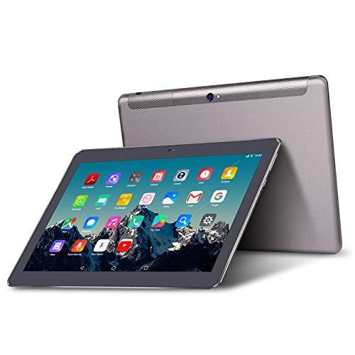 Tablet 10 Pollici – TOSCIDO Android 9.0 Certificato da Google GMS, Quad core, 4G LTE Dual Sim Carta, 64 GB Memoria, RAM 4 GB, WiFi / Bluetooth / GPS / OTG, Suono Stereo con Doppio Altoparlante – Grigio