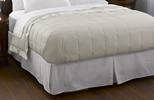 Pacific Coast Feather Company 67811 Down Blanket, Cotton Cover with Satin Border, Hypoallergenic, King, Cream