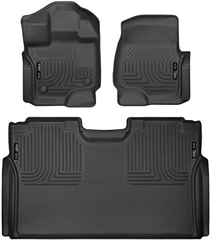 Husky Liners Fits 2015-20 Ford F-150 SuperCrew Weatherbeater Front & 2nd Seat Floor Mats 3