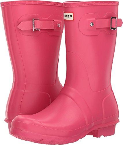 Hunter Womens Original Short Bright Pink Rain Boot - 6 B(M) US