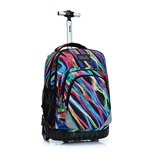 Tilami Rolling Backpack 19 inch Wheeled LAPTOP Boys Girls Travel School Student Trip, Colours
