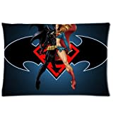 Supergirl Batgirl Pillowcases Custom Pillow Case Cushion Cover 20 X 30 Inch Two Sides