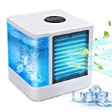 Personal Space Air Conditioner, 1 Mini USB Personal Space Air Cooler, Humidifier, Purifier, Desktop Cooling Fan for Office Household Outdoors