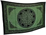 4Rissa Green Celtic Knot Mandala Tapestry Wall Hanging Bedspread