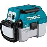 Makita XCV11Z 18V LXT Lithium-Ion Brushless Cordless 2 Gallon HEPA Filter Portable Wet/Dry Dust Extractor/Vacuum, Tool Only