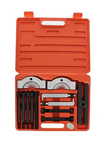 ABN Gear Puller and Bearing Separator Splitter 14-Piece Set – Heavy-Duty Kit – Vehicle Gear, Pulley, Steering Wheel, Ball Bearing