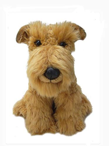 sawley fine arts Plush Dog Airedale – Soft Terrier Dog – 12 inch Collectible Toy Stuffed Animal