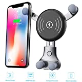 BESTHING Wireless Car Charger - Air Vent Phone Holder - Car Cradle Mount, 10W Compatible for Samsung Galaxy S9/S9+/S8/S8+/S10/S10+/Note 8/9, 7.5W Compatible for iPhone Xs Max/Xs/XR/X/ 8/8+ (Black)