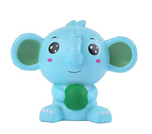 Aolige Jumbo Squishy Blue Elephant Kawaii Cream Scented Very Squishies Slow Rising Decompression ...