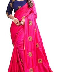 Kuvarba Fashion Women's Silk Saree With Unstitched Blouse Piece
