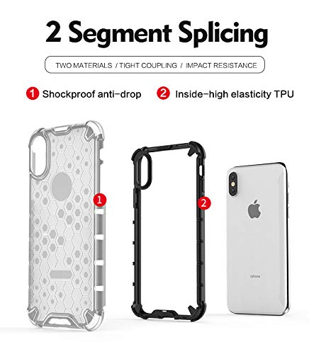 Soezit TPU+PC Dual Layer Honeycomb Pattern Shockproof Back Case Cover for Oppo F11 Pro - Black 7